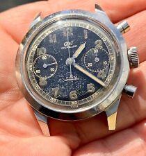 Vintage chronograph telemeter spillmann rare glossy dial valjoux 22