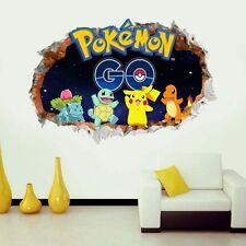 Pokemon GO 3D Broken Wall Window Sticker Removable Size 60x90cm