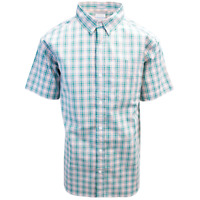 Columbia Men's Pink Blue Green Plaid Rapid Rivers II S/S Shirt (Retail $45.00)
