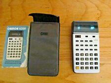 VINTAGE RARE Omron Electronic Calculator 10SR in Case 1976RPN SCIENTIFIC