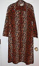 1960s Dela-Ann Leopard Print Cozy 3/4 Zipped Robe Women's Loungewear