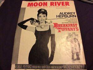 ORIGINAL AUDREY HEPBURN 1960 PHOTO POSTER/SHEET MUSIC SUITABLE FOR FRAMING