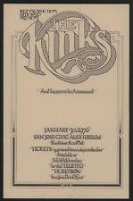 1976 San Jose Civic Auditorium Handbill - The KINKS