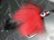BELIZE TARPON FLY BUNNY RED & BLACK # 3/0 SALTWATER FLY FISHING FLIES BASS