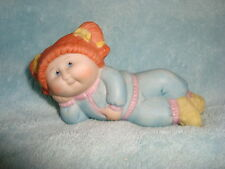 1984 OAA INC Cabbage Patch Ceramic figure orange hair laying position
