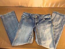 Paisley Sky Women's Jeans size 10 Embroidery Distressed Big Stitch Bling F24