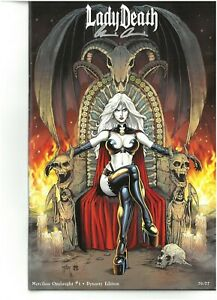 Lady Death MERCILESS ONSLAUGHT DYNASTY edition signed Pulido COA Brian Pulido NM