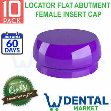10x Purple Implant Locator Flat Abutment Silicone Female Insert Cap Strong