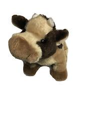 Ganz Webkinz Brown Cow Fluffy Plush Animal Soft Stuffed Toy HM197