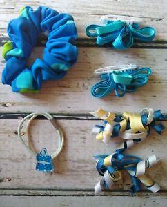 Vintage Gymboree Pool Party bathing suit ponytail 2 sets curlies & scrunchie set