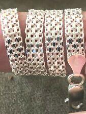 """6mm~ 7""""~ 11"""" $23.99~$31.99 Sterling Silver Bracelets/Anklets~Italian 925 Bismark"""