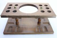 Nice Large Wooden Pipe Rack for 10 Pipes with a center area for a humidor