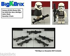 x5 Each DC15A Rifle Blasters LEGO Star Wars Clone Troopers Minifigs BLACK ABS