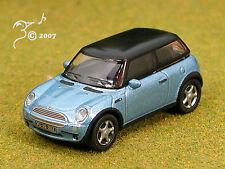 Die Cast Blue Mini Cooper Model Power HO Scale 1:87 by Model Power