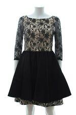 Alice + Olivia Pleated Lace Dress / Black / RRP: £600.00