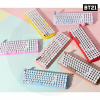 BTS BT21 Official Authentic Goods Wireless Retro keyboard +Tracking #