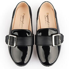 Girl Loafer Shoes Formal Child ComfortDailyBow Black Elegant School Dress PK9011