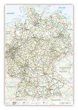 LYSCO® Deutschlandkarte DIN A2 Format gefaltet auf DIN A4 Landkarte Deutschland