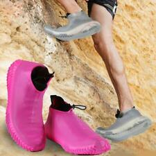 SILICONE OVERSHOES RAIN WATERPROOF SHOE COVERS BOOT COVER Y5M9 PROTECTOR C1D1
