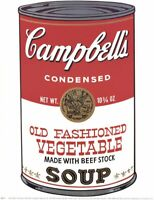 Campbell's Soup by Andy Warhol Vegetable Soup Can Art Print Poster 11x14