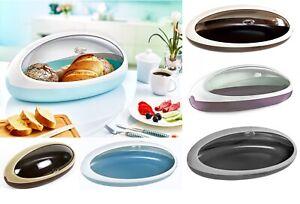 Plastic Roll Top Loaf Food Bread Bin UFO Shaped Storage Kitchen Bin Box 50cm NEW
