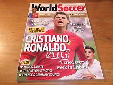 Football Magazine World Soccer November 2008 Ronaldo Kaka France Germany Zarate