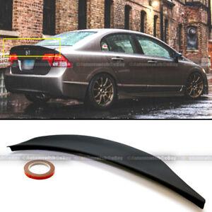 For 06-11 Civic 4DR Sedan Duckbill Highkick Unpainted Black Trunk Wing Spoiler