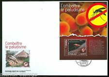 GUINEA 2014 ANTI MALARIA CAMPAIGN  SOUVENIR SHEET  FIRST DAY COVER