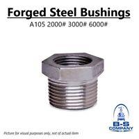 """BUSHING 3"""" x 2-1/2"""" Threaded Forged Steel A105 3000# 3M"""