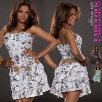 New Women's European Mini Dress Sleeveless Summer Party Size 6 8 10 XS S M