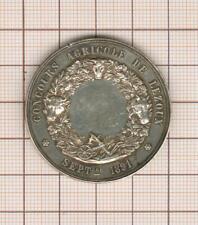 Puy de dome médaille argent Lezoux  1891 concours agricole