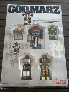 Vtg 1980's Bandai Godmarz Super Robot System Rare Japan