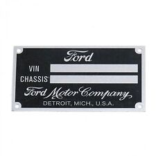 Stamped Ford data plate