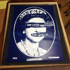 Sex Pistols  Large God save the queen poster  Rare !!!!!!