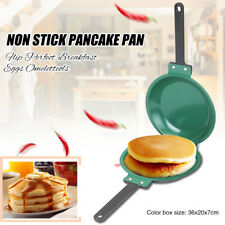 Flip Pancake Pan Breakfast Eggs Toast Crepes Omelette Maker NonStick Cookware