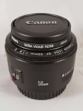 Canon EF 50mm 1.8 II lens with UV and circular polarising filters