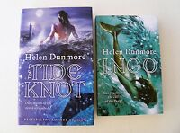 HELEN DUNMORE ~ THE TIDE KNOT (HB) and INGO (PB) ~ SIGNED 1ST EDITION