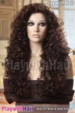 Amazing Mane!! Long Full Curly Wig Brown Auburn Mix