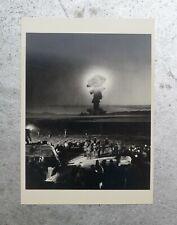 "Vintage Jjr Eyerman 1953 atomic bomb test Nevada postcard 4x6"" reprint 1981"