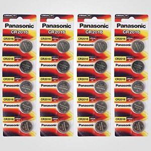 Panasonic CR2016 3V Lithium Battery 4PACK X (5PCS) 20 Single Use Batteries