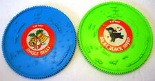 2 Tomy Tuneyville Choo Choo Train Replacement Records Disks Blue Green 4 Songs