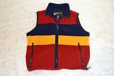 Eddie Bauer EBTEK SMALL Men's South Western Colors Full Zip Fleece VEST Pullover