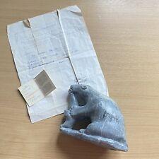Vintage Povungnituk Canadian Eskimo carved soapstone polar bear seal Moses Smith