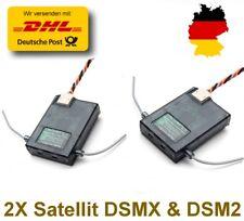 2X Satelliten 2.4GHz DSMX & DSM2 Empfänger Für Spektrum AR7000 AR8000 usw./K122