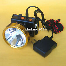 4V 5W 25000 LUX White LED Miner Light Headlight Mining Lamp for Fishing Camping