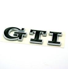 "1PC Black ""GTI"" Logo Badge fit VW Golf MK3 MK4 MK5 MK6 Polo Car Body Boot Emblem"