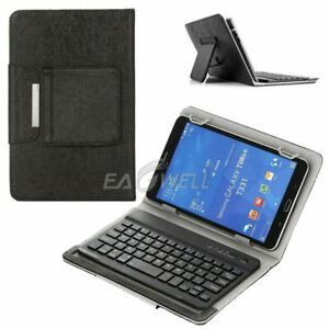 """For Alcatel Joy Tab 2 8"""" Tablets Universal PU Leather Folio Keyboard Case Cover"""