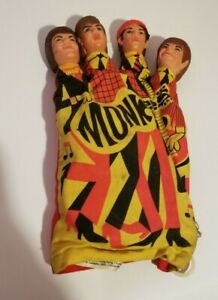 Vintage 1966 Monkees Matel Inc.Toy Hand Puppet Pull String Retracts Doesn't Talk