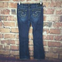Silver Jeans Womens Aiko Boot Cut Size 32 /33 Distressed 33 Inseam