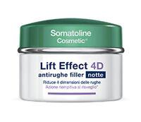 Somatoline Cosmetic Crema Notte Viso Antirughe Filler Lift Effect 4D Cream 50ml